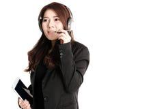 Service client asiatique d'isolement photos libres de droits