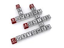 Service client et appui Images stock