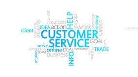 Service client, typographie animée illustration libre de droits