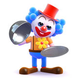 Service-Clown des Silbers 3d Stockfotos