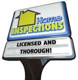 Service complet d'inspecteur autorisé par signe à la maison d'inspections illustration libre de droits