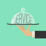 Service Concept. Flat Style. Vector Royalty Free Stock Photography
