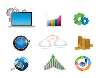 service concept icon set illustration Royalty Free Stock Photos