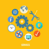 Service concept with item icons Stock Photo