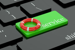 Service concept on keyboard button Stock Photos