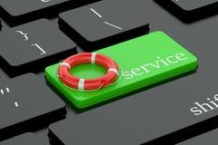 Service concept on keyboard button Stock Photos