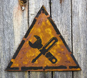 Service Concept on Rusty Warning Sign. Royalty Free Stock Photo