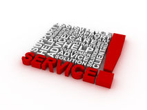 Service concept words. 3D rendering on white background Royalty Free Stock Image