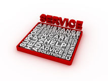 Service concept words. 3D rendering on white background Royalty Free Stock Photos