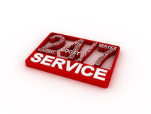 Service concept words. 3D rendering on white background Royalty Free Stock Photo