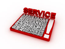 Service concept words. 3D rendering on white background Stock Photo