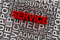 Service concept words Royalty Free Stock Photos