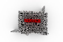 Service concept words Royalty Free Stock Photo