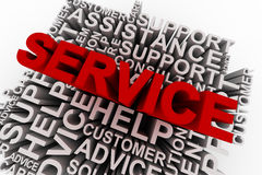 Service concept words Royalty Free Stock Images