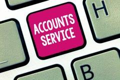 Service conceptuel de comptes d'apparence d'écriture de main Liste d'accès de présentation de photo d'affaires de profils d'utili photos libres de droits