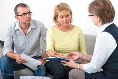 Service consultatif pour des débiteurs photos stock
