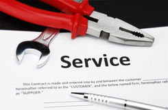 Service contract Royalty Free Stock Images