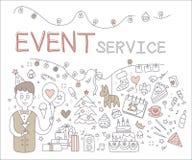 Service d'événement Illustration de vecteur Photo stock