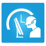 Service d'appel Photographie stock libre de droits