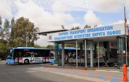Service d'autobus de ville sur l'île de la Chypre Images stock