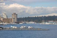 Service d'avion de flotteur de Vancouver Photo libre de droits