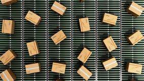 Service d'emballage de la livraison de paquets et transport modernes de colis Photographie stock
