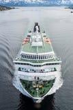 Service d'expédition de Hurtigruten en Norvège Images stock