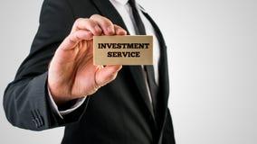 Service d'investissement Images libres de droits