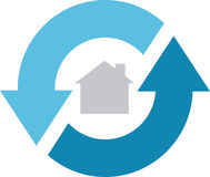 service de 360 maisons Illustration Libre de Droits