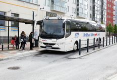 Service de bus express dans Boden Images stock