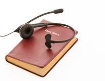 Service de centre d'appels pour des questions de foi Photo stock