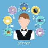 Service de chambre d'hôtel illustration stock
