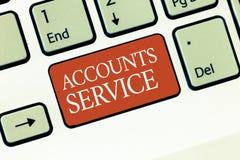 Service de comptes d'apparence de signe des textes Liste d'accès conceptuelle de photo de profils d'utilisateur et information li photographie stock