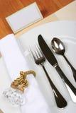 Service de dîner photographie stock libre de droits