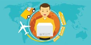 Service de distribution autour du monde images libres de droits