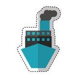 Service de distribution de bateau de bateau Photographie stock