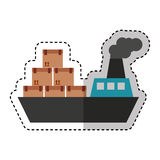 Service de distribution de bateau de bateau Image stock