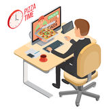 Service de distribution de pizza illustration libre de droits