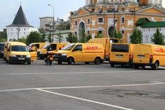 Service de distribution global de DHL Image stock