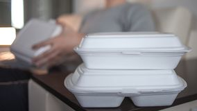 Service de distribution de nourriture des caf?s et des restaurants image stock