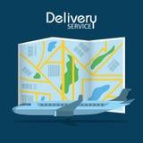 Service de distribution rapide illustration libre de droits