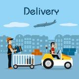 Service de distribution rapide illustration de vecteur