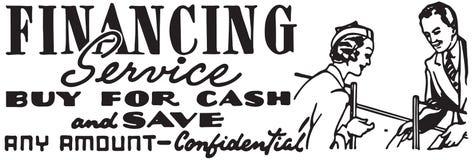 Service de financement illustration de vecteur
