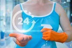 Service de ménage 24 heures sur 24 Images libres de droits