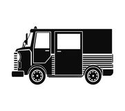 Service de messagerie d'expédition de truck van delivery de silhouette illustration stock