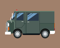 Service de messagerie vert d'expédition de truck van delivery illustration stock