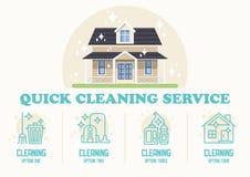 Service de nettoyage rapide Illustration plate de vecteur illustration de vecteur