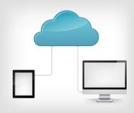Service de nuage Photo libre de droits