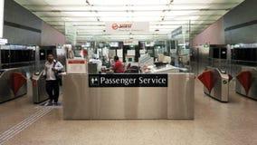 Service de passager dans l'aéroport Singapour de Changi Image libre de droits