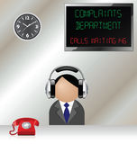 Service de plaintes Image stock
